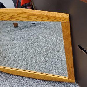 Elegant Glass Mirror Wood Frame
