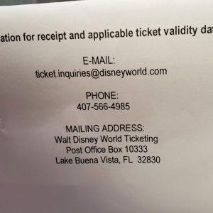 Walt Disney Tickets #2 Quantity 4