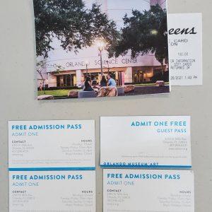 Orlando Science Center & Visa Cash Card